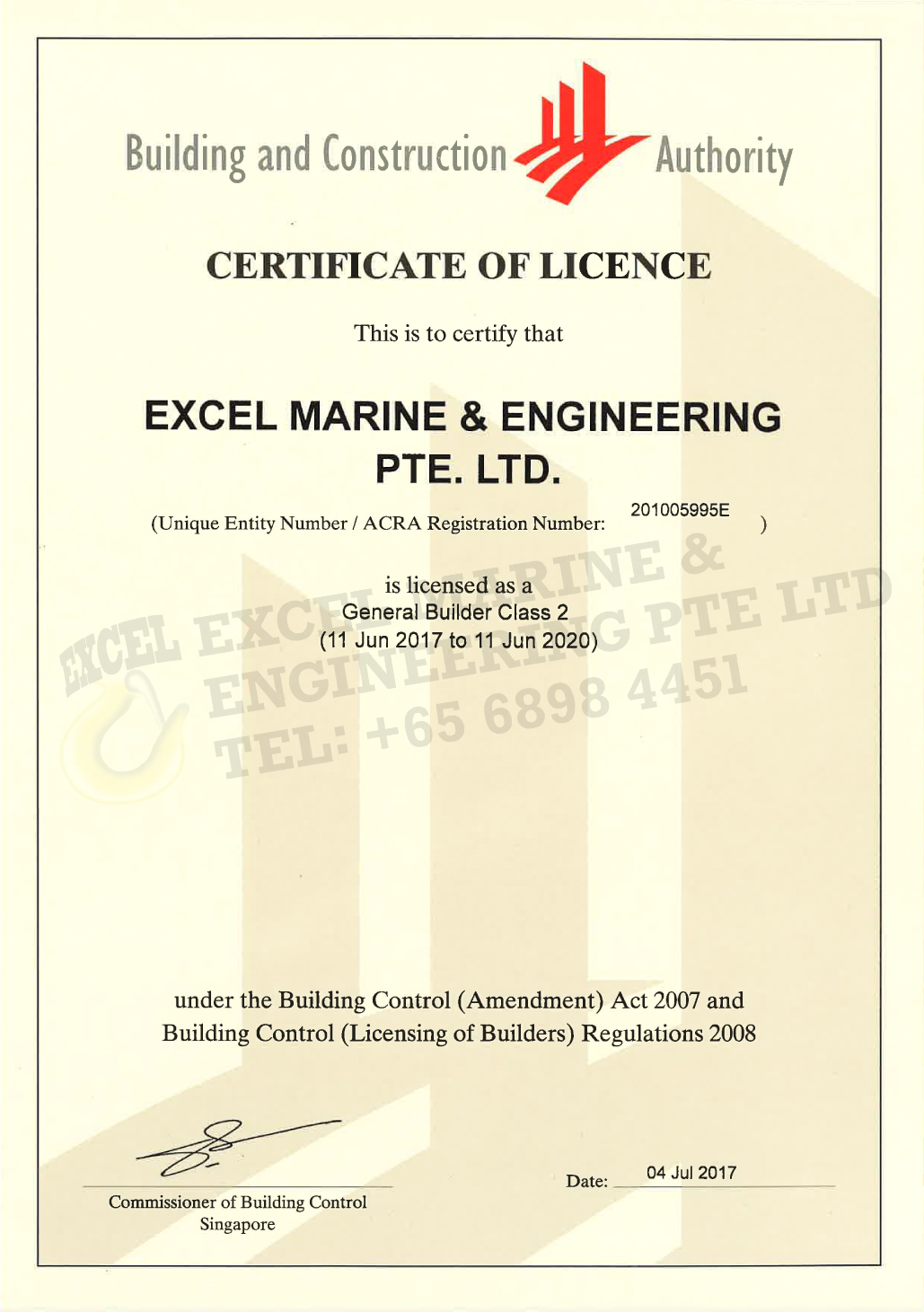 Pte Ltd Email Piston Engine Mail: EXCEL MARINE & ENGINEERING