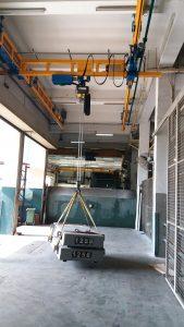 2 Ton Light Crane System Load Testing