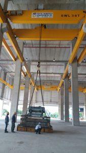 30 Ton Overhead Crane Load Testing