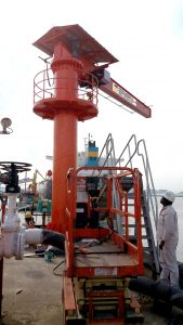 2Ton Motorise Pillar Mounted Slewing Jib Crane