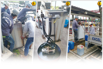 Image 1 to 3: Overhaul & repair of carpark system power pack