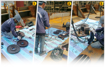 Image 1 to 3: Repair of hoist bottom block bearing & accessory part