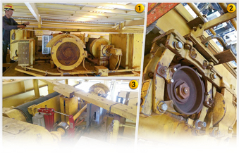 Image 1 to 3: Troubleshooting, repair & install of stacker crane hoist brake