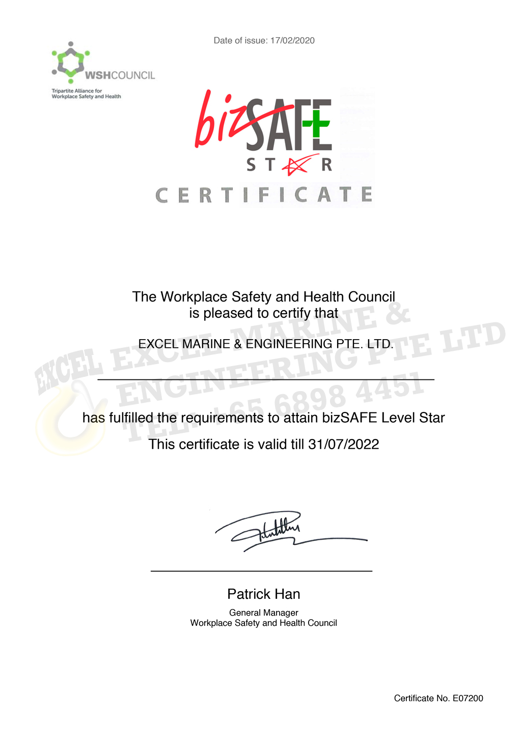 bizSAFE Level Star